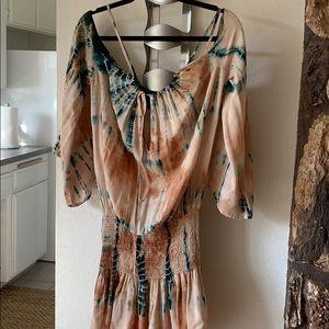 Blue Life Tie-Dye Dress